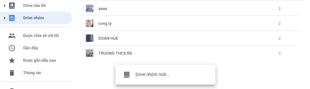 cách tạo drive nhóm