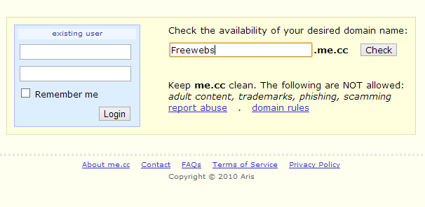đăng kí tên miền miễn phí